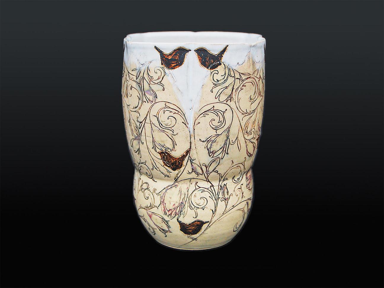 Vase Vogelgezwitscher